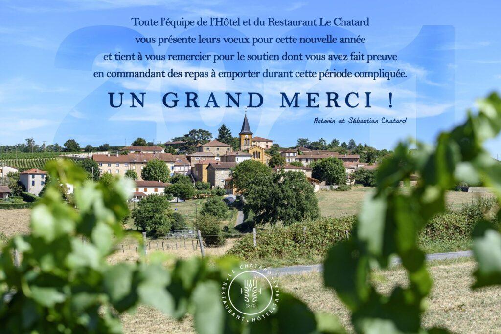 Carte de voeux 2021-Hotel Restaurant Le Chatard_1